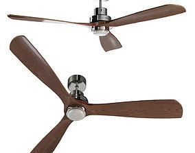 LANTAU-G LED Matt nickel ceiling fan 3D model