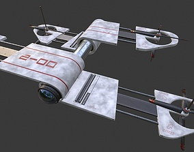 rigged Extending Drone Model 02