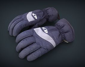 Ski Gloves for Woman 3D model