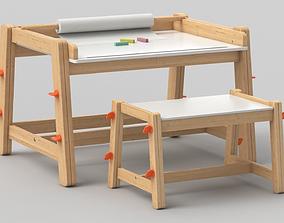 3D model Flisat Children Desk and Bench by IKEA