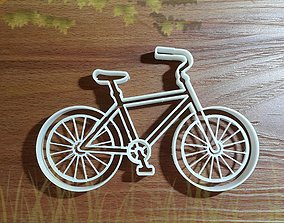 Bike with details cookie cutter 3D printable model