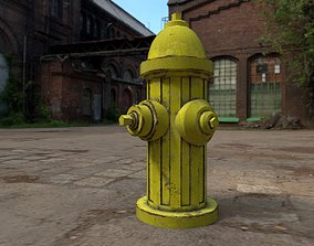 street fire hydrant 3D model low-poly