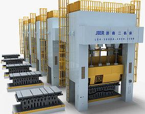 3D model Single Action Mechanical Press