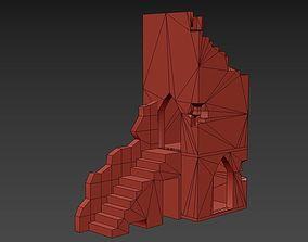 Medieval Building Ruins 3D asset