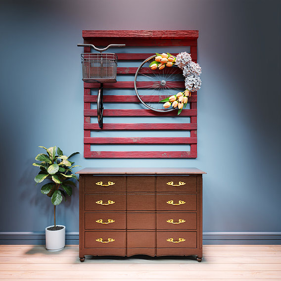 Recycled Furniture and Home decor concept- Wall design