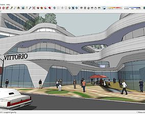 Sketchup Commercial and office complex M2 3D model