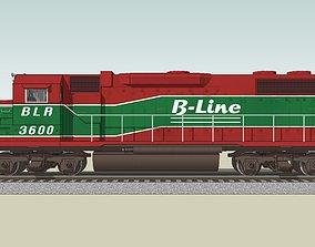 3D Train Engine - Railroad Locomotive - EMD GP38