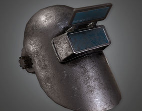 Metal Welding Helmet TLS - PBR Game Ready 3D asset