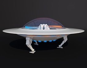 Flying Saucer With Interior 3D model