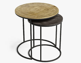 3D model weathered table set