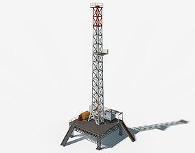 Oil Derrick 3D model oil