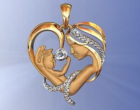 Heart Pendant Mother and 3D printable model
