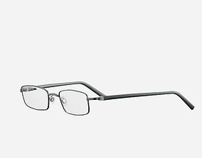 3D asset Black Optics Glasses