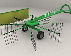 3D model Rotary hay rake