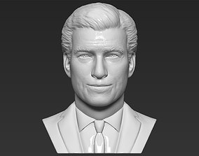James Bond Pierce Brosnan bust 3D printing ready stl obj