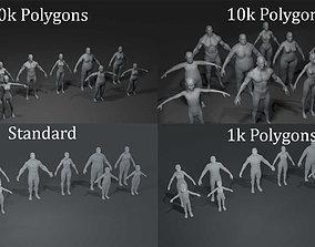 Human Body Base Mesh 40 Models Collection