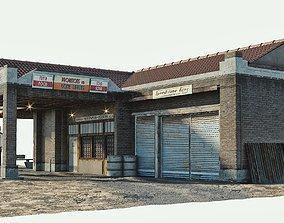 3D asset realtime Old Gas Station