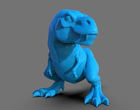 T-Rex tyrannosaurus cartoon 3D printable model