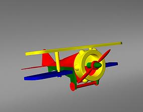 3D asset Plane Plastic Toy Airplane