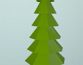 3D asset VR / AR ready Low Poly Pine Tree