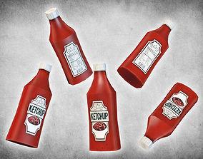 Ketchup Bottle 3D asset