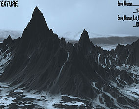 3D model realtime Snow Mountain