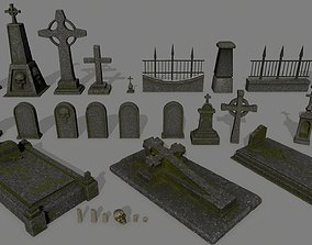 3D asset realtime tombstone set