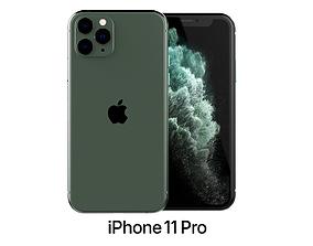 3D Apple iPhone 11 Pro Midnight Green
