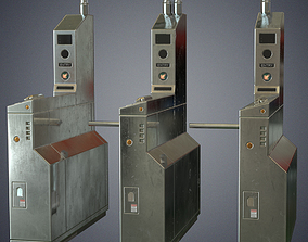3D model Metro ticket barriers