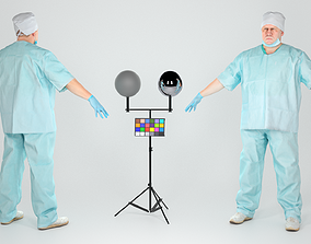 Surgical doctor male ready for rigging 146 3D model