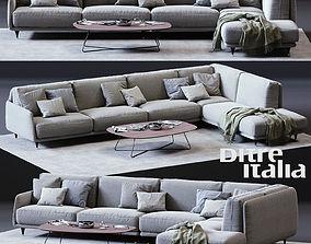Ditre Italia ELLIOT Corner Sofa 3D asset