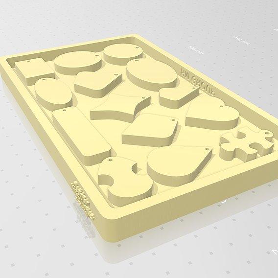 Epoxy Resin Jewelry silicone Mold 3D print model