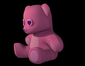 Teddy Bear Pink 3D model