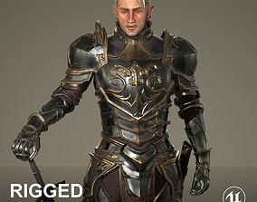 3D asset Elf Knight Character