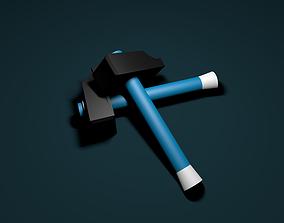 hammer nail tool 3D model