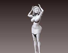 Sculpture Woman Body stand poses 3D print 3D model