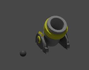 low-poly CANNON MODEL ON CLASH IF CLANS