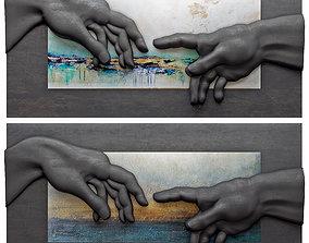 Creation of Adam by Michelangelo 4 3D model
