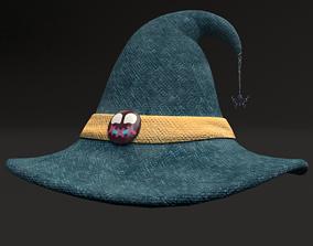 3D model Blue Magic Witch Hat