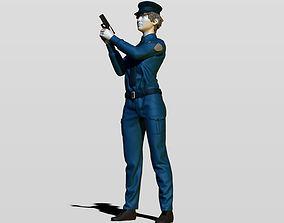Police woman 3D print model