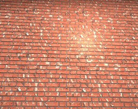 3D asset VR / AR ready Old Brick Wall Mid-Poly Tile