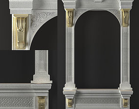 arched window 4 3D model