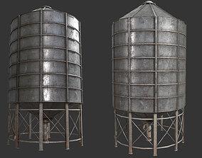 metal 3D asset Farm Silo 6A PBR