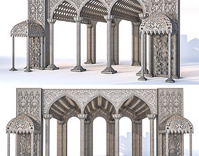 3D Fragment of a building in Arabic style
