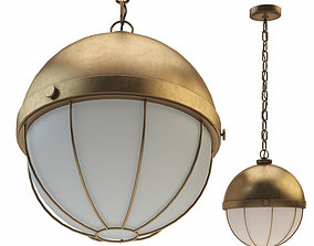 Sumner 1 Light Pendant Aged Brass 3D