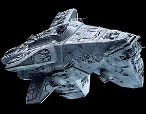 3D model Star Wars Mandalorian Cruiser Space Ship