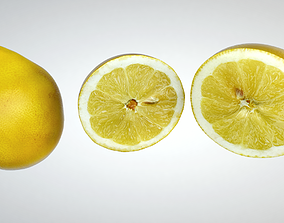3D asset low-poly Lemon orange