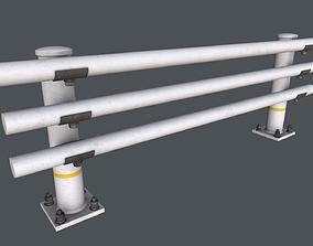 Road Barrier 01 3D model PBR