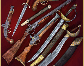 3D model Pirate Weapons Collectuion