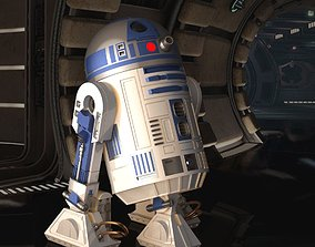 STAR WARS R2D2 detailed printable 360 deg rotating 1